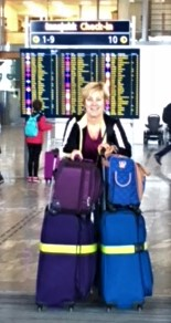 cathy and luggage