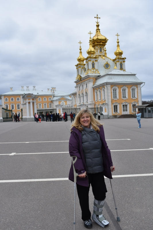 1st touring day on crutches....St, Petersburg, Russia